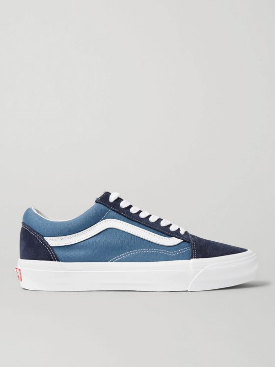 Vans UA OG Old Skool LX Leather-Trimmed Canvas and Suede Sneakers