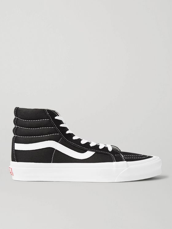Vans UA OG SK8-Hi LX Leather-Trimmed Canvas High-Top Sneakers