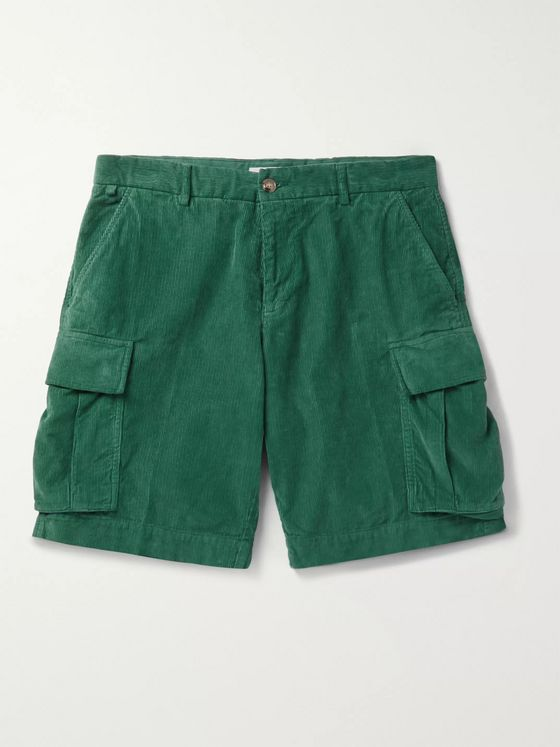 MAN 1924 Cotton-Corduroy Cargo Shorts