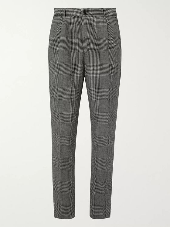 MAN 1924 George Prince of Wales Checked Linen Suit Trousers