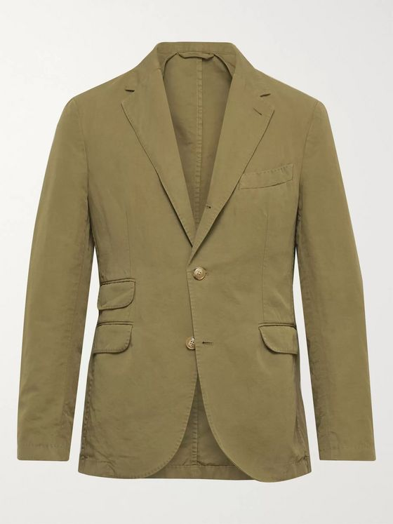 MAN 1924 Kennedy Unstructured Puppytooth Linen Suit Jacket