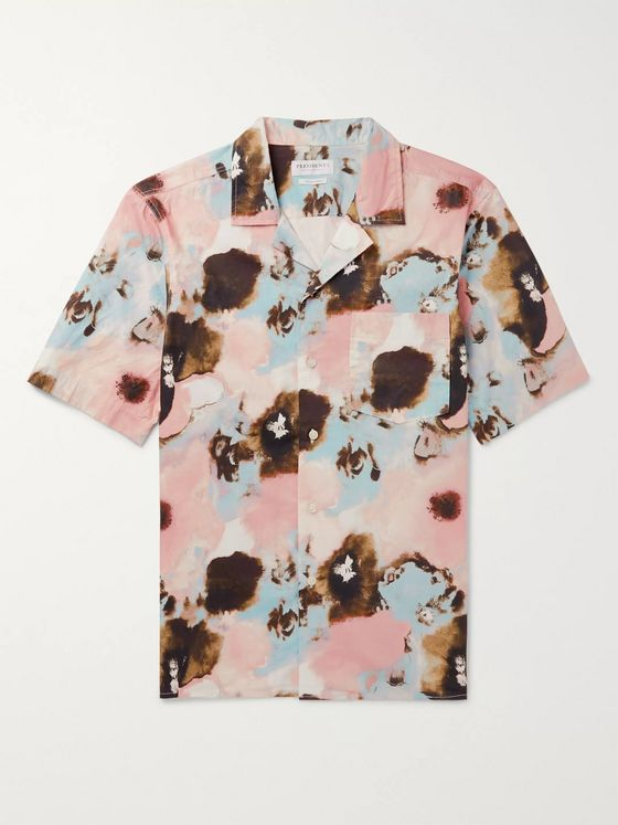President's Camp-Collar Printed Cotton-Poplin Shirt
