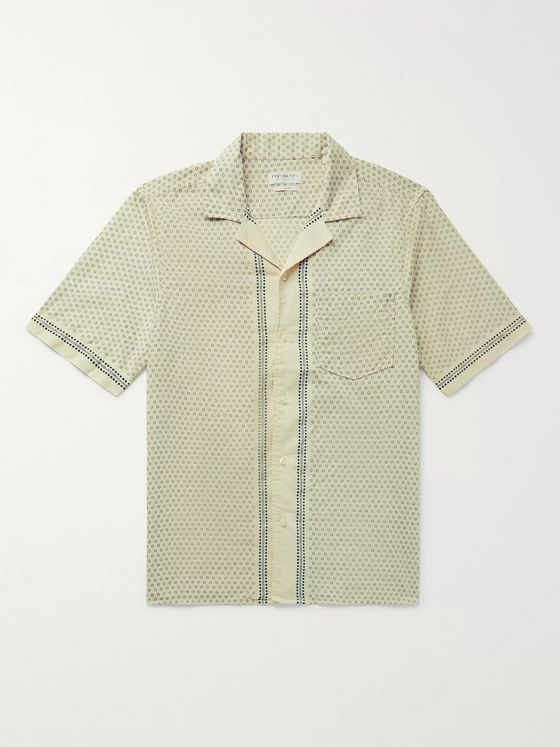 President's Camp-Collar Printed Cotton Shirt