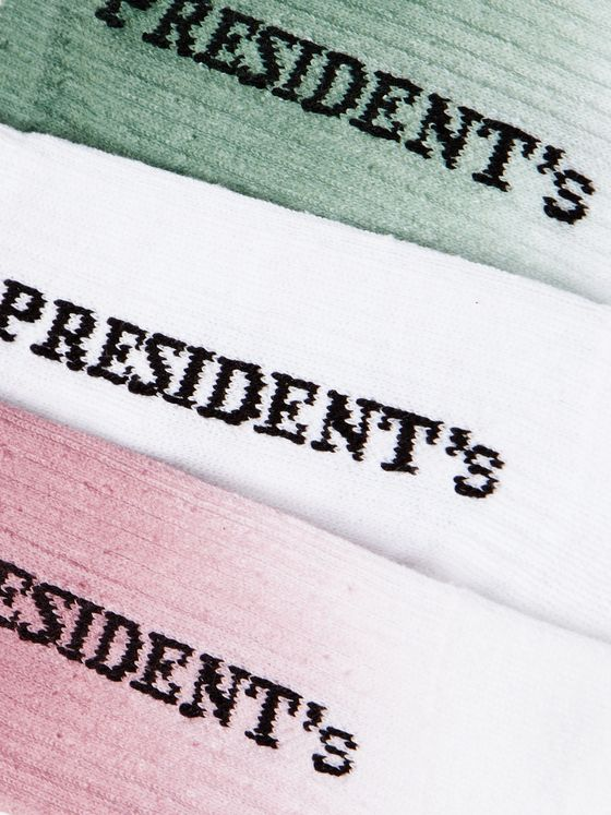 President's Three-Pack Ribbed Cotton Socks