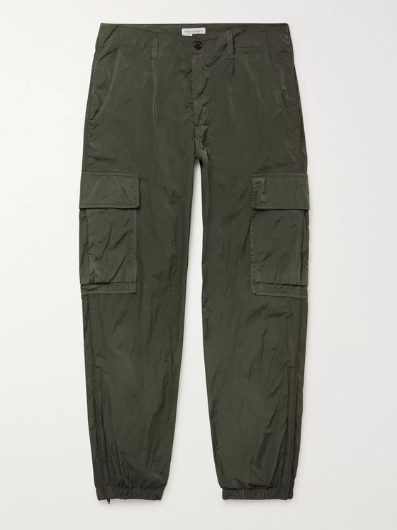 President's Tapered Crinkled-Shell Cargo Trousers