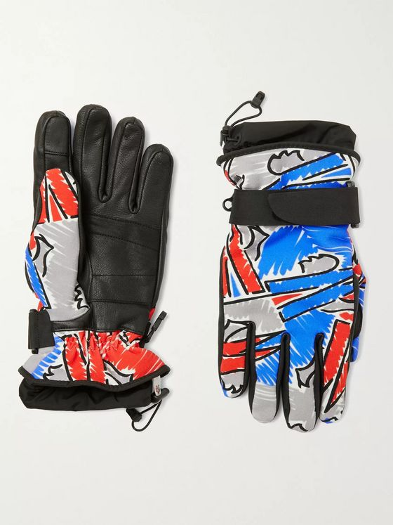 MONCLER GENIUS + 3 Sandro Mandrino Snow Glow Logo-Appliquéd Shell and Leather Ski Gloves