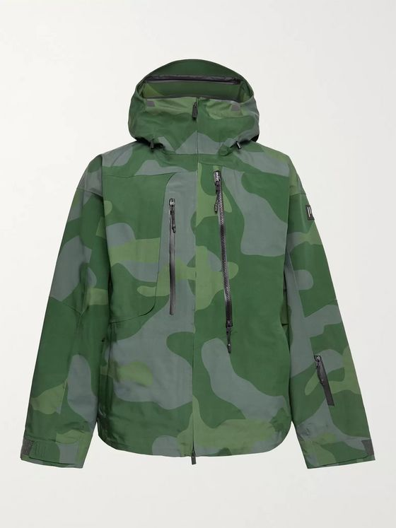 Holden Camouflage-Print Hooded Ski Jacket