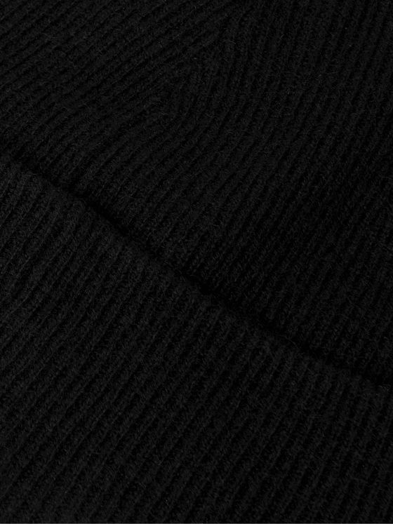 Holden Ribbed Wool and Cashmere-Blend Beanie