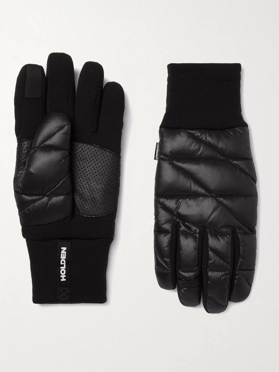 Holden Polartec Power-Stretch Pro Shell and Leather Down Ski Gloves