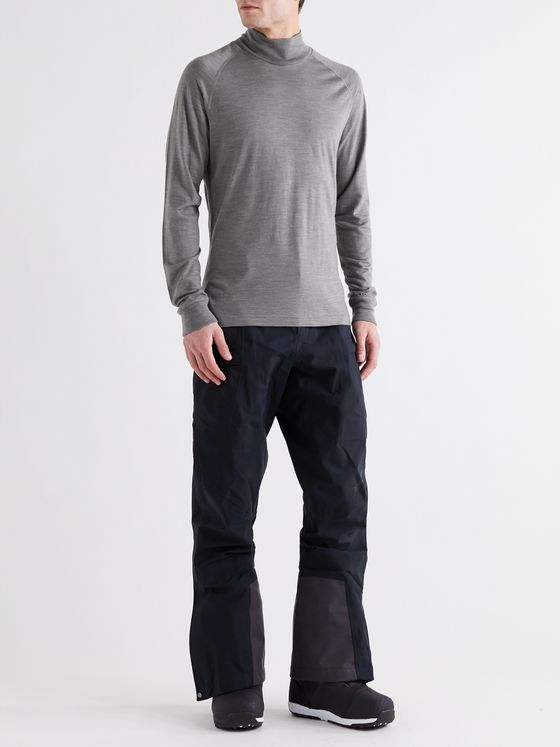 Houdini Activist Merino Wool and Tencel Lyocell-Blend Rollneck Ski Base Layer