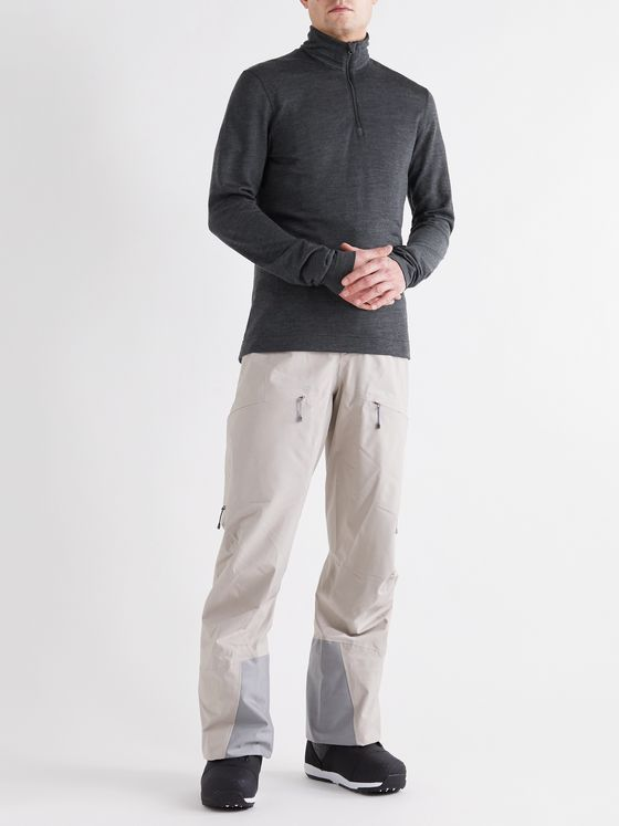 Houdini Wander Mélange Merino Wool-Blend Half-Zip Ski Base Layer