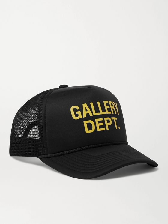 Gallery Dept. Logo-Print Canvas and Mesh Trucker Hat