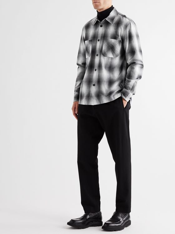 Mr P. Checked Cotton-Flannel Shirt