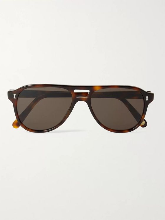Cubitts Killick Aviator-Style Tortoiseshell Acetate Sunglasses