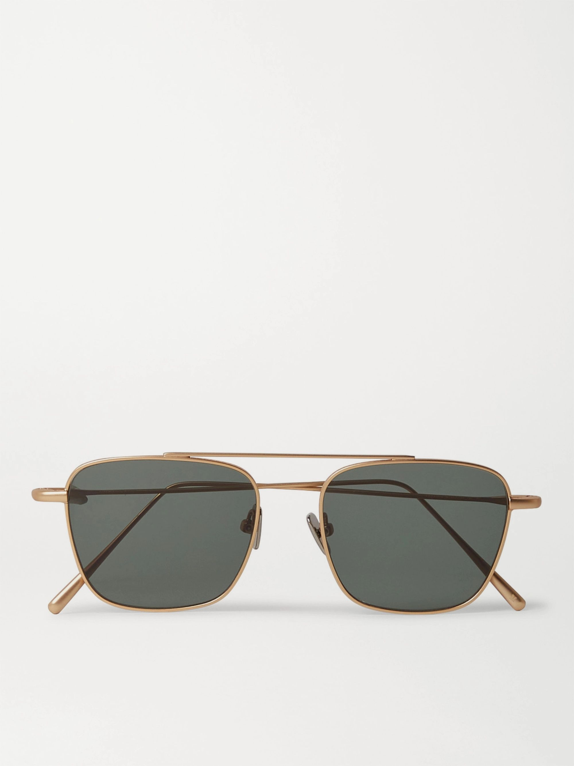 CUBITTS Collier Square-Frame Gold-Tone Sunglasses