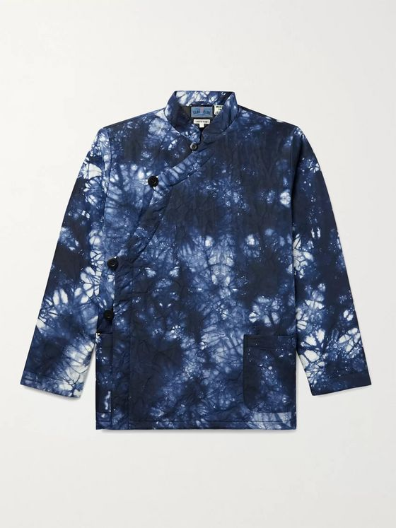 Blue Blue Japan Kagozome Crinkled Indigo-Dyed Nylon Jacket