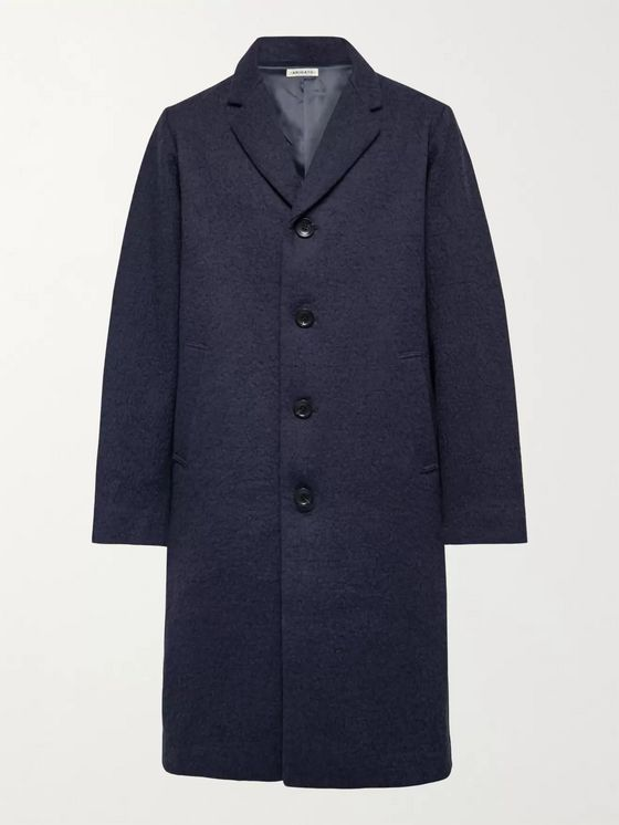 Blue Blue Japan Kumo Gakaru Indigo-Dyed Textured Cotton and Wool-Blend Coat