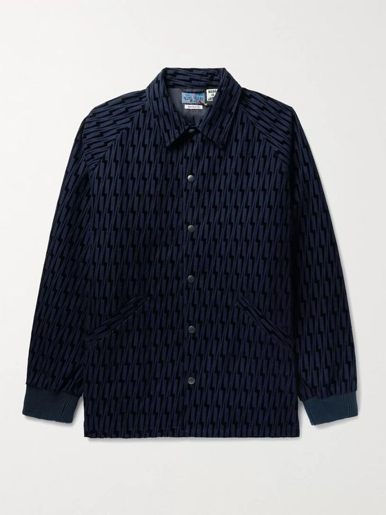 Blue Blue Japan Flocked Cotton Jacket
