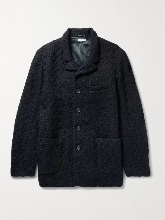 Blue Blue Japan Wool-Jacquard Jacket