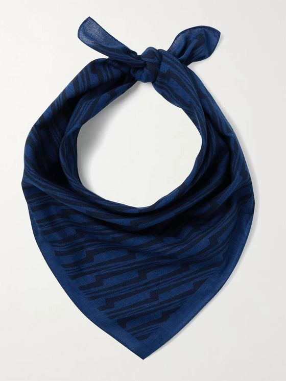 Blue Blue Japan Indigo-Dyed Cotton Bandana
