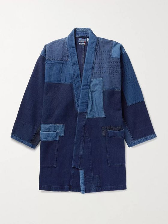 Blue Blue Japan Sashiko Haori Patchwork Indigo-Dyed Cotton Jacket