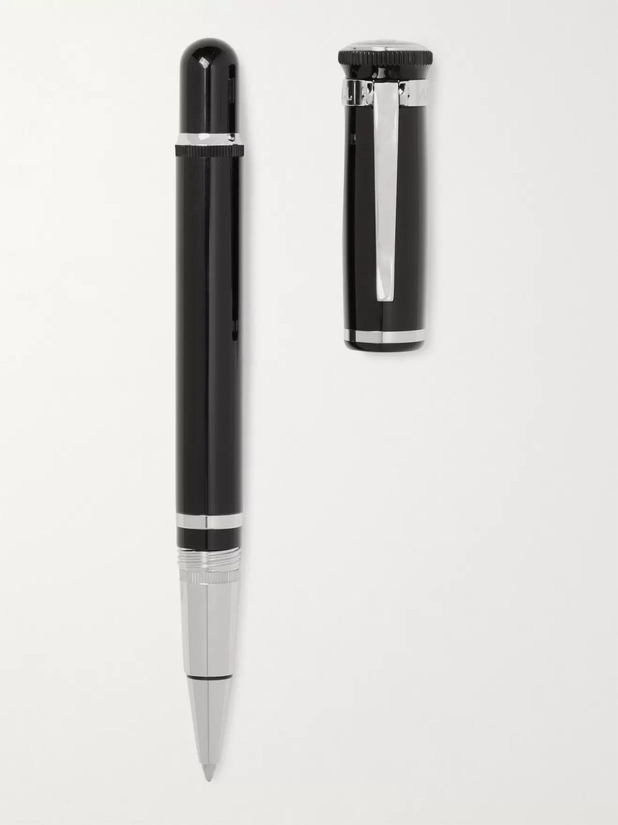 Dunhill Sentryman Resin and Silver-Tone Ballpoint Pen