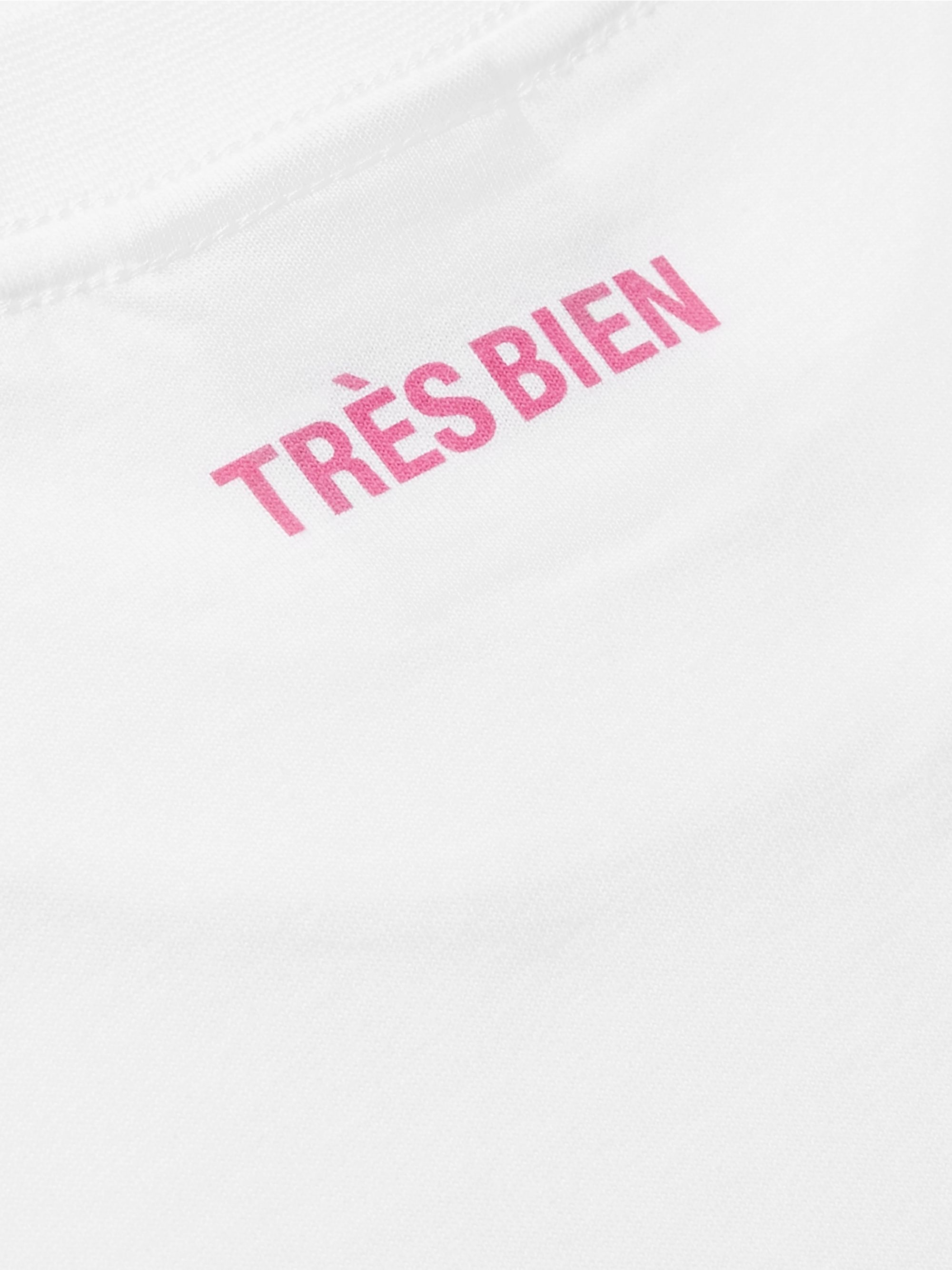 Très Bien Fashion Meltdown Printed Cotton-Jersey T-Shirt