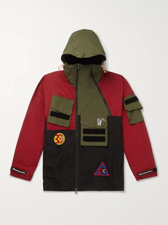 Billionaire Boys Club Expedition Logo-Appliquéd Cotton-Blend Hooded Jacket