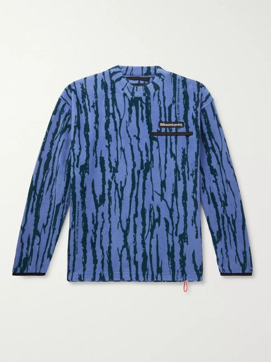 Billionaire Boys Club Logo-Appliquéd Printed Fleece Sweatshirt