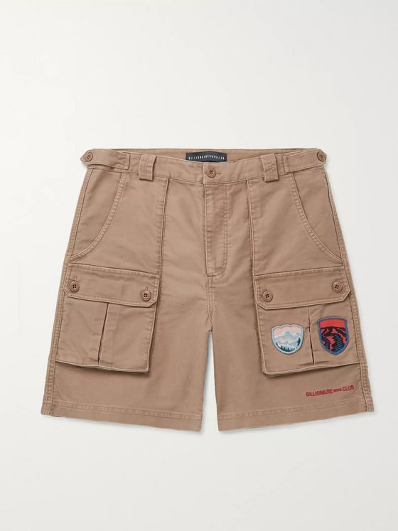 Billionaire Boys Club Logo-Appliquéd Cotton-Twill Cargo Shorts