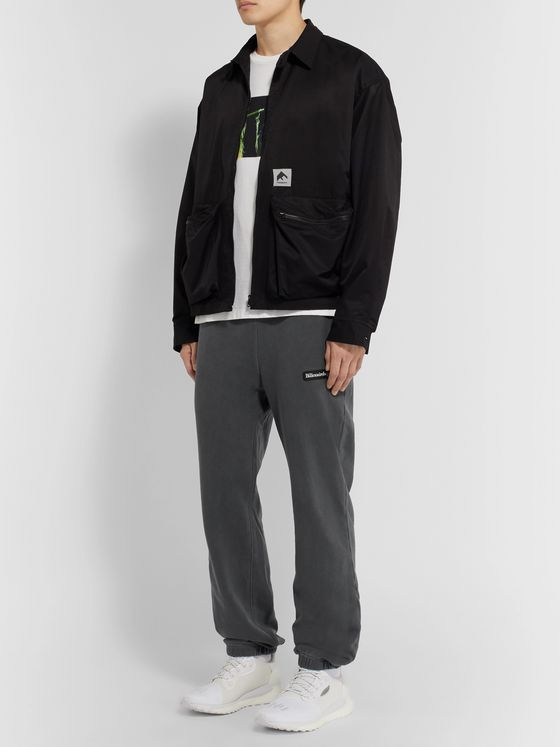 Billionaire Boys Club Tapered Overdyed Logo-Appliquéd Loopback Cotton-Jersey Sweatpants