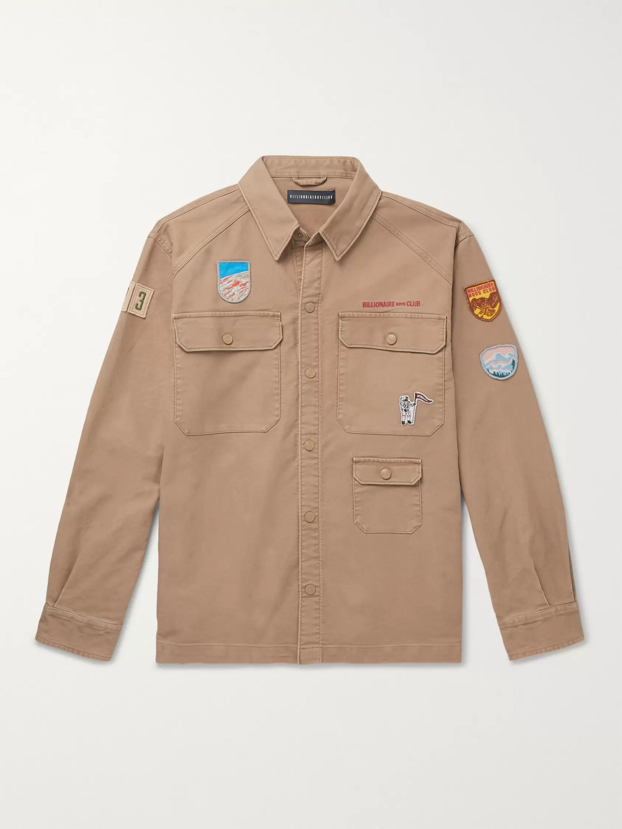 Billionaire Boys Club Appliquéd Cotton-Moleskin Shirt