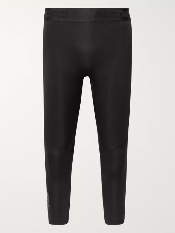 Adidas Sport Alphaskin Mesh-Panelled Climacool 3/4 Compression Tights