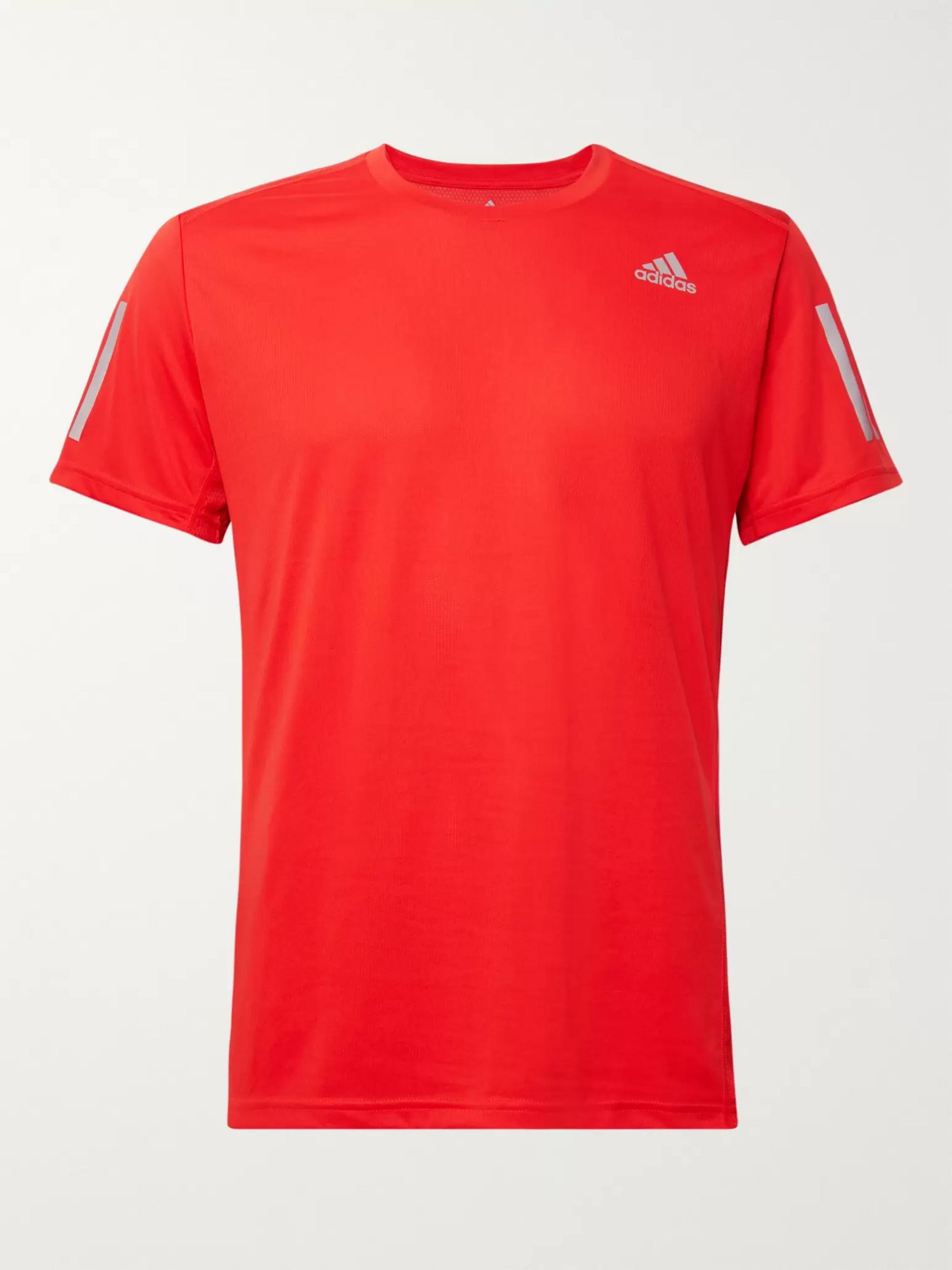 Adidas Sport Own the Run Mesh-Panelled Tech-Jersey T-Shirt