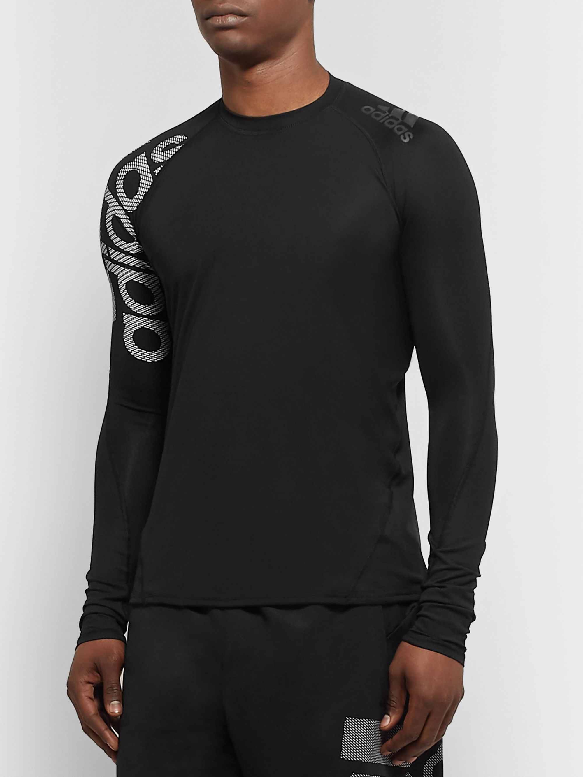 Adidas Sport Alphaskin Badge of Sport Climacool and Mesh Compression T-Shirt