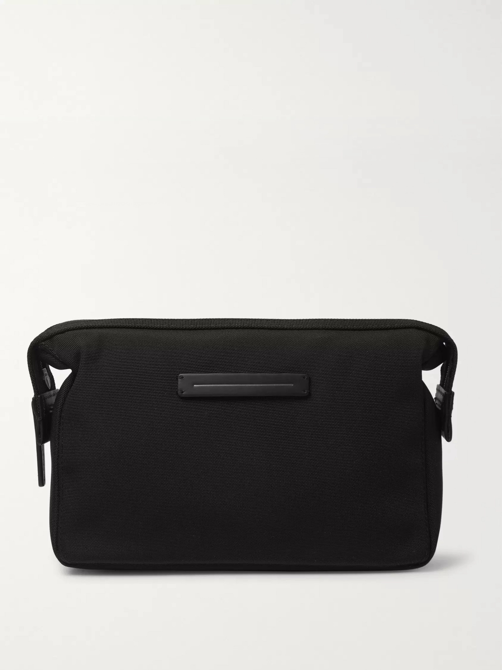 Horizn Studios Koenji Leather-Trimmed Nylon Wash Bag