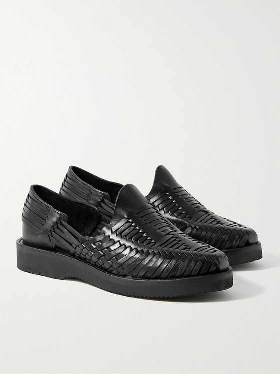 YUKETEN Alejandro Woven Leather Huarache Sandals