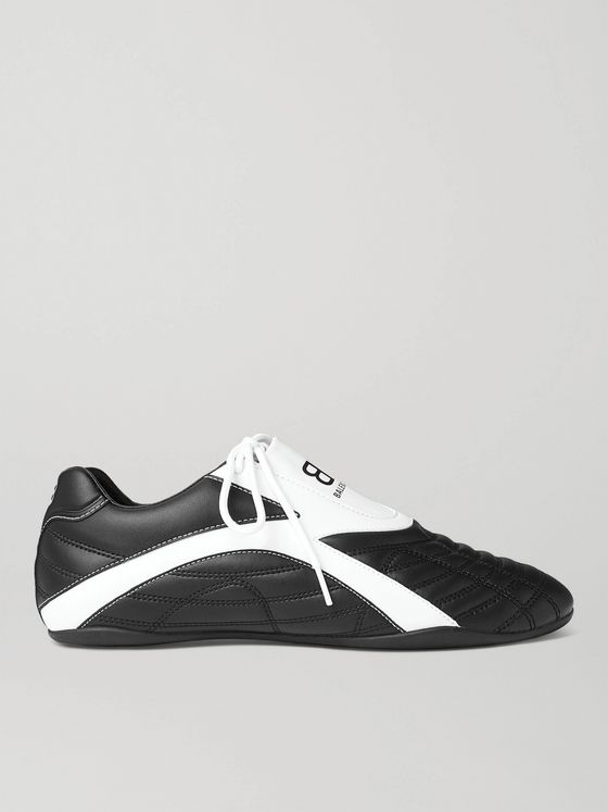 BALENCIAGA Zen Logo-Print Faux Leather Sneakers