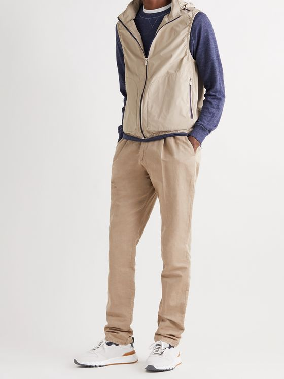 BRUNELLO CUCINELLI Hooded Shell Gilet