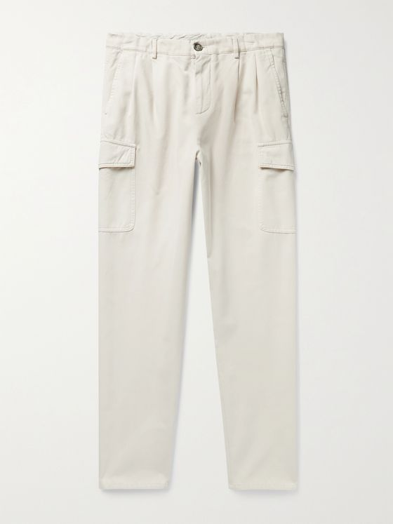 BRUNELLO CUCINELLI Cotton-Gabardine Cargo Trousers