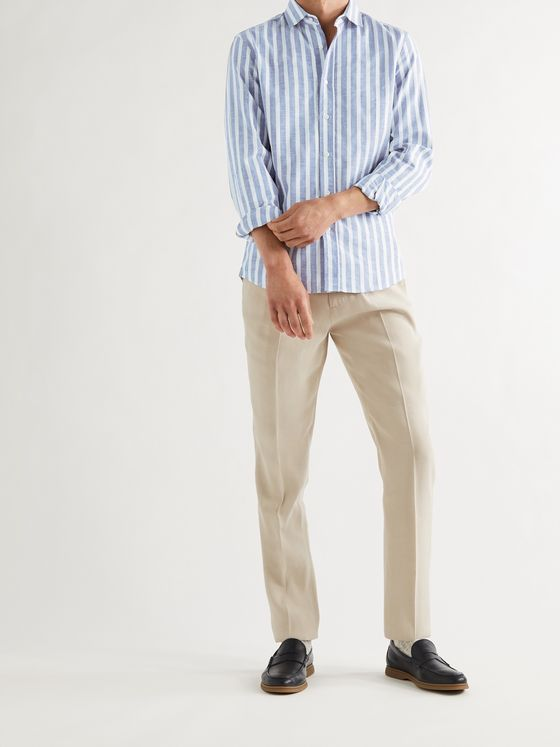 BRUNELLO CUCINELLI Striped Cotton Shirt