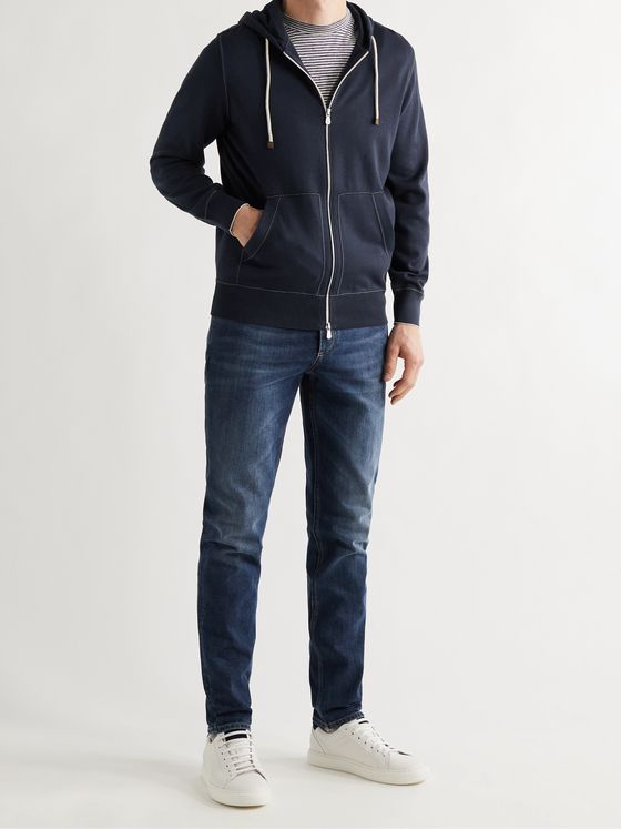 BRUNELLO CUCINELLI Cotton Zip-Up Hoodie