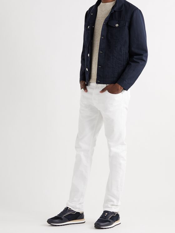 BRUNELLO CUCINELLI Linen and Cotton-Blend Twill Trucker Jacket