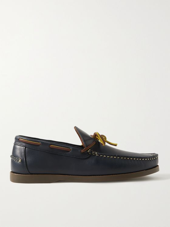 SID MASHBURN Leather Boat Shoes