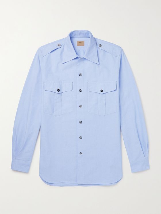 L.E.J Cotton-Oxford Shirt