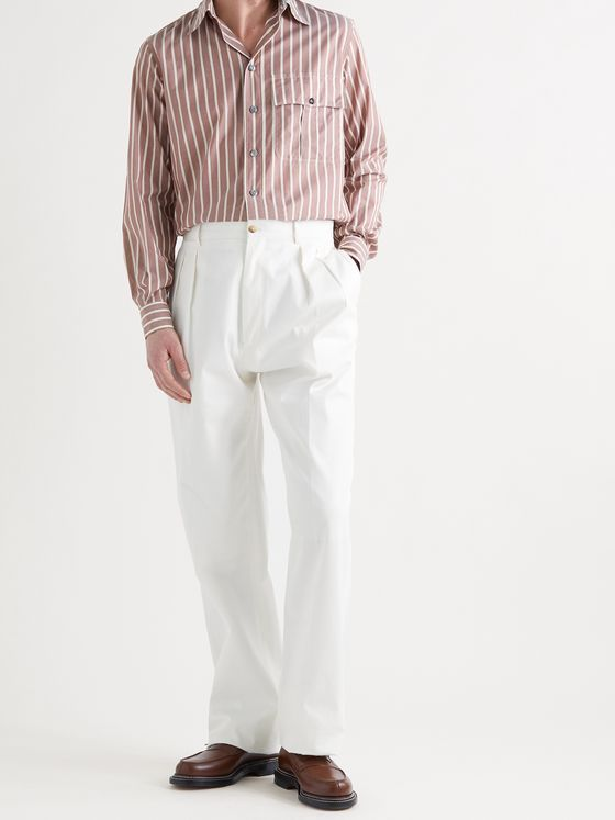 L.E.J Striped Cotton-Voile Shirt