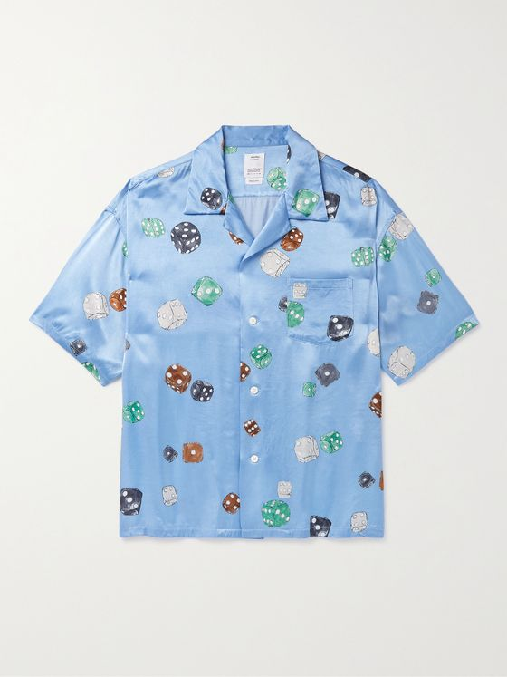 VISVIM Wallis Camp-Collar Printed Satin Shirt