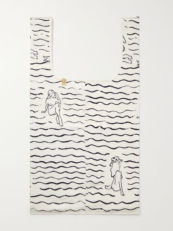 VISVIM Printed Cotton Tote Bag