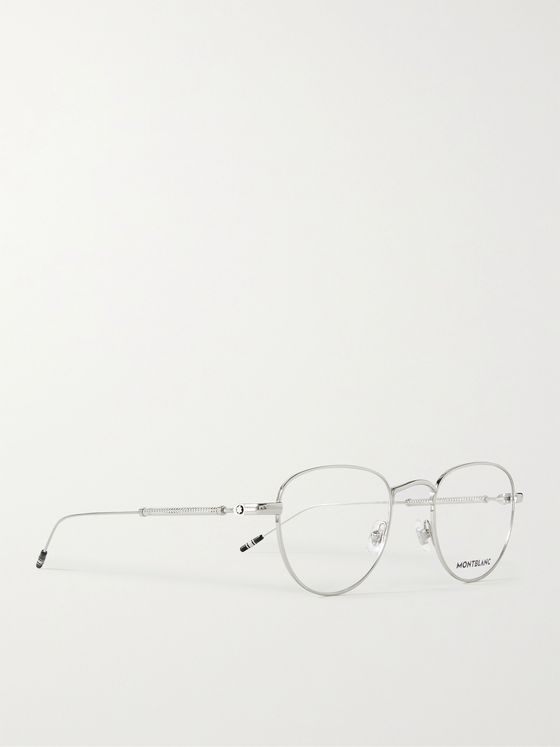 MONTBLANC Round-Frame Silver-Tone Optical Glasses