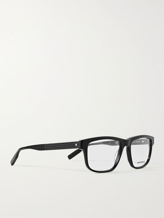 MONTBLANC Rectangular-Frame Acetate Optical Glasses